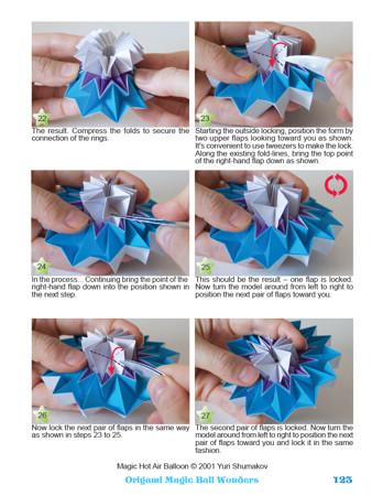 Origami Magic Ball Tutorial (Yuri Shumakov) HD! - YouTube | 450x348